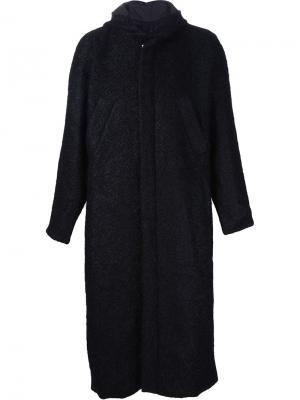 Пальто с капюшоном Pieter. Цвет: чёрный