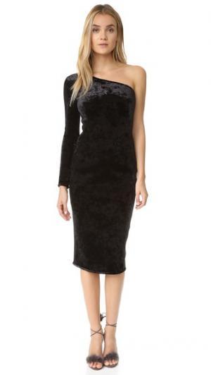 Бархатное платье Fonda Black Halo. Цвет: голубой