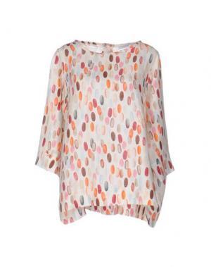 Блузка LA FABBRICA DEL LINO. Цвет: слоновая кость