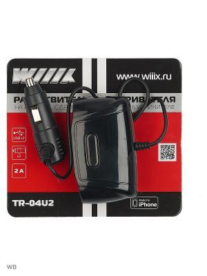 Разветвитель прикуривателя с двумя USB-портами TR-04U2 WIIIX. Цвет: черный