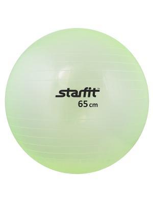 Мяч гимнастический STARFIT GB-105 65 см, прозрачный, зеленый. Цвет: зеленый