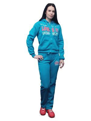 Костюм спортивный PROFFI SPORT. Цвет: голубой
