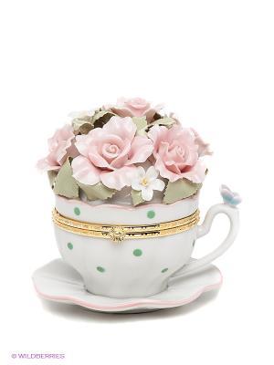 Композиция Чашечка радости Pavone. Цвет: розовый, белый, зеленый