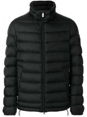 Куртка средней длины с капюшоном Peuterey. Цвет: чёрный