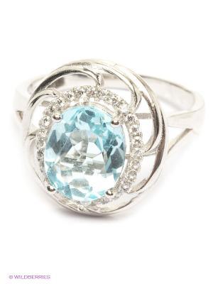 Кольцо BALEX. Цвет: светло-голубой, серебристый