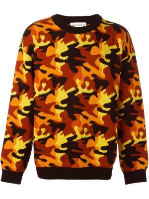 Камуфляжный свитер Gosha Rubchinskiy. Цвет: жёлтый и оранжевый