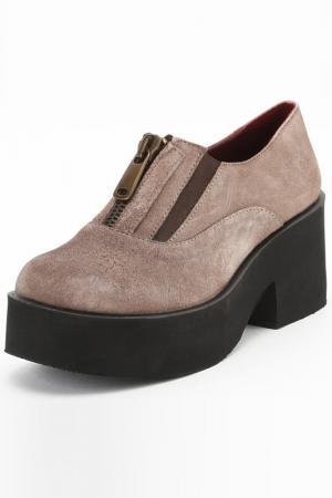 Туфли Almare. Цвет: серый