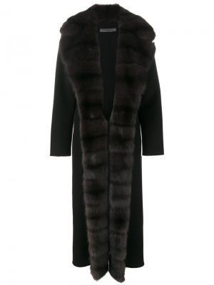 Пальто Michigan Simonetta Ravizza. Цвет: чёрный