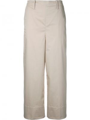 Укороченные брюки Lemaire. Цвет: телесный