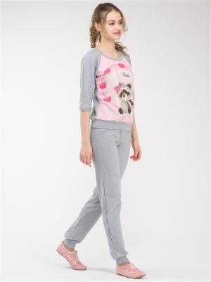 Костюм Style4you. Цвет: темно-серый,светло-серый,розовый