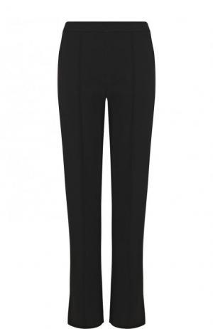 Однотонные брюки прямого кроя из вискозы Valentino. Цвет: черный