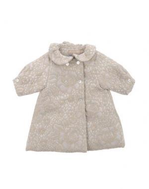 Пальто LA STUPENDERIA. Цвет: светло-серый