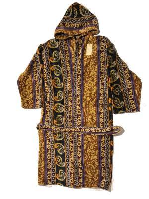 Халат с капюшоном La Pastel. Цвет: черный,рыжий,светло-оранжевый