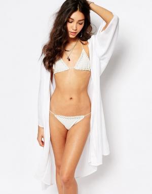 Akasa Пляжное кимоно миди. Цвет: белый