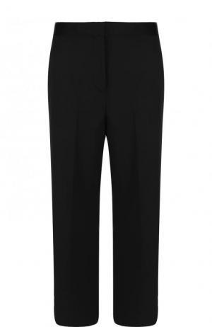 Укороченные расклешенные брюки из шерсти Versace. Цвет: черный