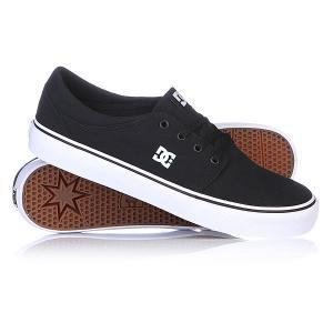 Кеды кроссовки DC Trase Tx Black/White Shoes. Цвет: черный