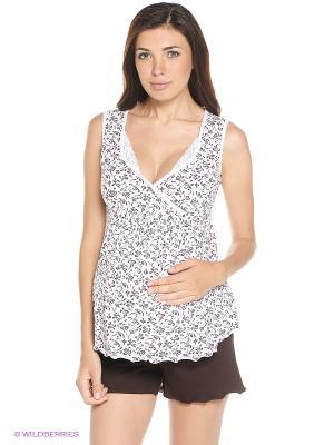 Пижама Hunny Mammy. Цвет: белый, коричневый