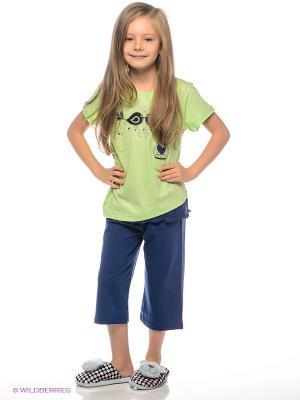 Пижама Vienetta Secret. Цвет: зеленый, синий