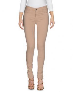 Джинсовые брюки MAISON ESPIN. Цвет: песочный
