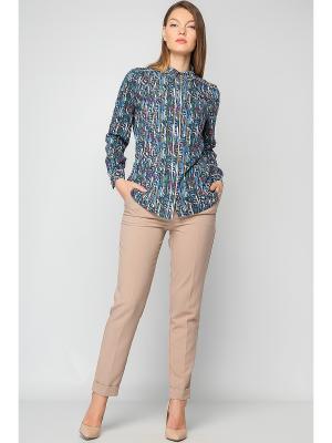 Рубашка Limonti. Цвет: синий, зеленый, розовый