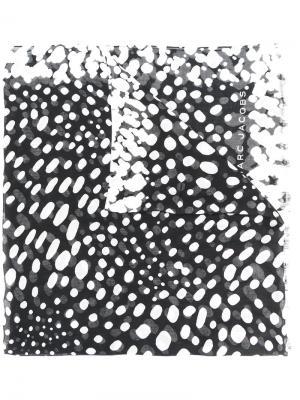 Шарф с принтом Marc Jacobs. Цвет: чёрный