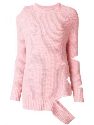 Джемпер с рубчик вырезом Zoe Jordan. Цвет: розовый и фиолетовый