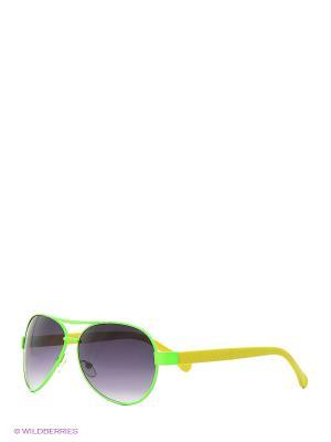Солнцезащитные очки Vittorio Richi. Цвет: зеленый, желтый