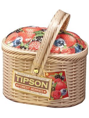 Чай Лукошко Лесные ягоды, 80 гр Tipson. Цвет: светло-коричневый, красный