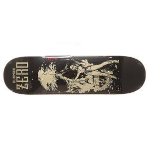 Дека для скейтборда  S6 Burman R7 Easyriders 32.3 x 8.625 (21.9 см) Zero. Цвет: черный,бежевый