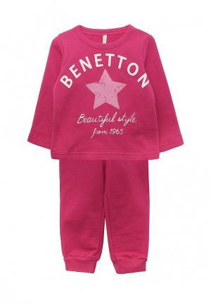 Костюм спортивный United Colors of Benetton. Цвет: фуксия