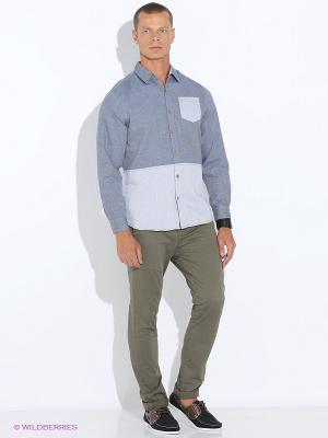 Рубашка E-Bound by Earth Bound. Цвет: синий, молочный