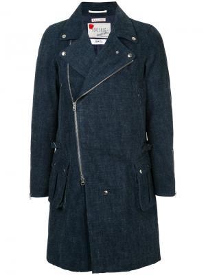 Джинсовое пальто Fdmtl. Цвет: синий