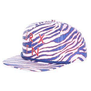 Бейсболка женская  Henshaw Snap Back White/Royal Brixton. Цвет: белый,синий