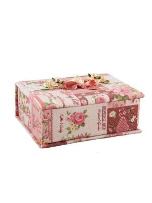 Шкатулка для ювелирных украшений Русские подарки. Цвет: розовый