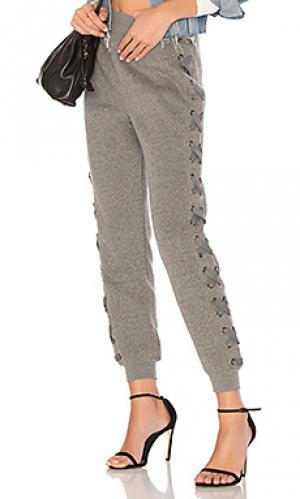 Свободные брюки grace Tularosa. Цвет: серый