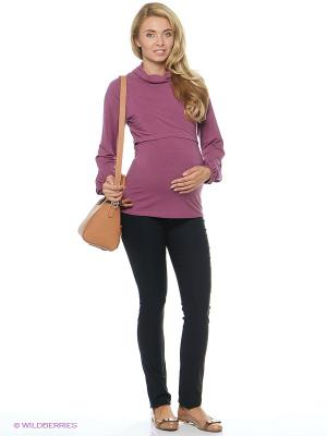 Джемпер для беременных и кормящих ФЭСТ. Цвет: лиловый