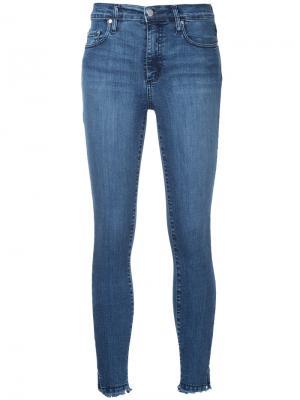 Укороченные облегающие джинсы Cult Nobody Denim. Цвет: синий