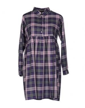 Короткое платье TRY ME. Цвет: серый