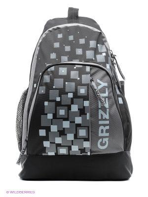 Рюкзак Grizzly. Цвет: черный, темно-серый