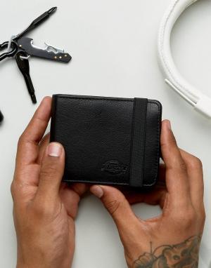 Dickies Кожаный бумажник Wilburn. Цвет: черный