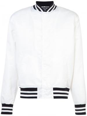 Куртка-бомбер с вышивкой логотипа Enfants Riches Déprimés. Цвет: белый