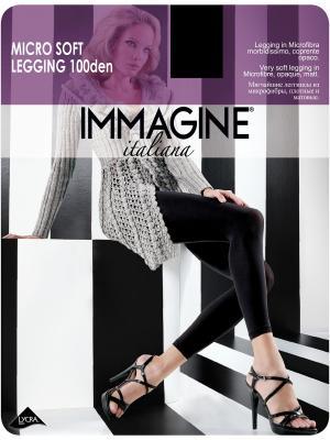 Леггинсы Immagine. Цвет: черный