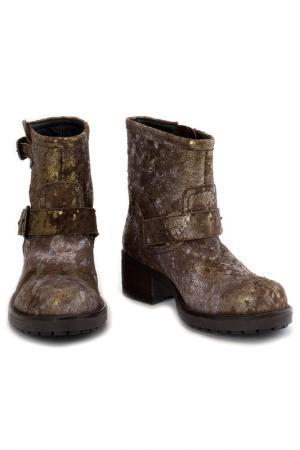 Ботинки Elena. Цвет: золотой