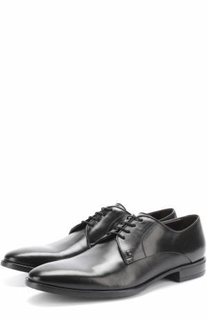 Классические кожаные дерби Aldo Brue. Цвет: черный