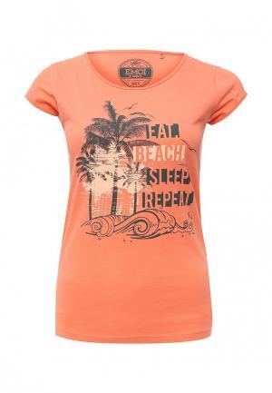 Футболка Emoi. Цвет: оранжевый