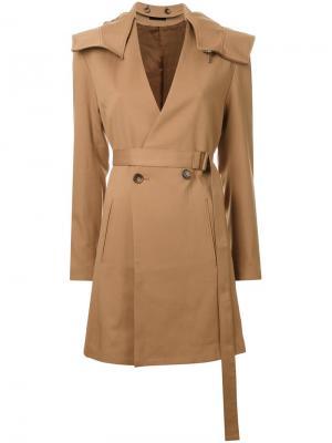 Пальто с капюшоном G.V.G.V.. Цвет: коричневый