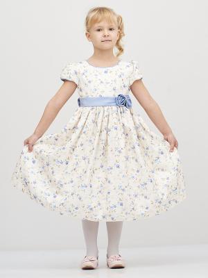Платье Baby Moses. Цвет: белый, голубой