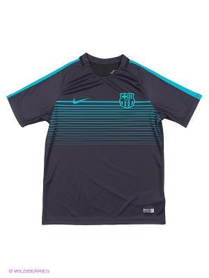Футболка FCB Y SQD TOP SS CL Nike. Цвет: серый
