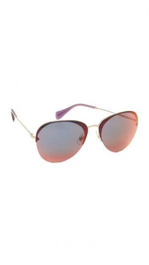 Зеркальные солнцезащитные очки-авиаторы Miu