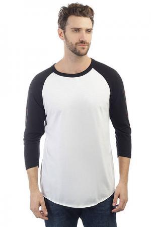 Лонгслив  Shred Raglan 3/4 White/Black Independent. Цвет: черный,белый